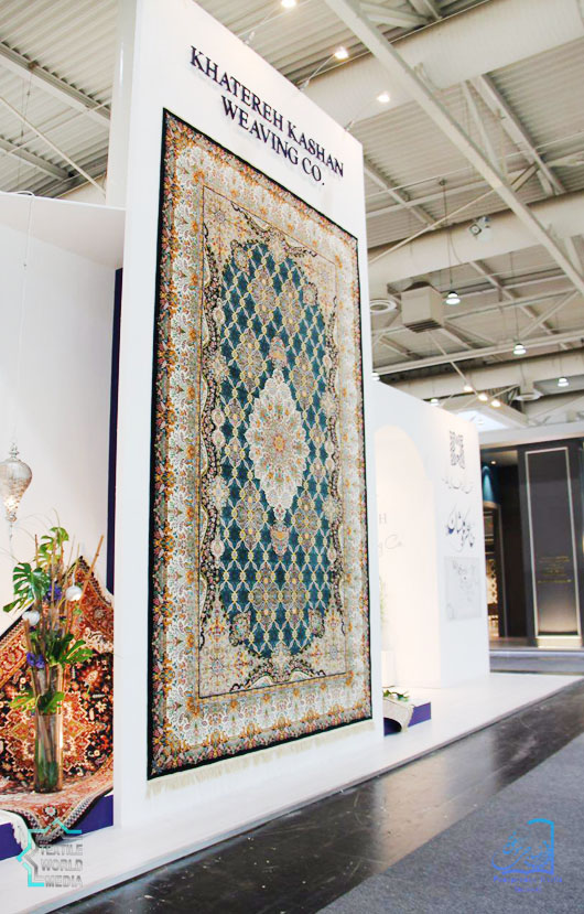 Khatereh-Kashan-Weaving-DOMOTEX-2017-TextileWorldMedia-2