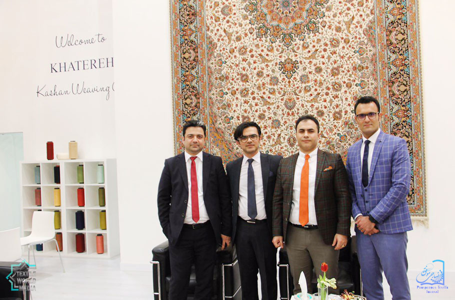 Khatereh-Kashan-Weaving-DOMOTEX-2017-TextileWorldMedia